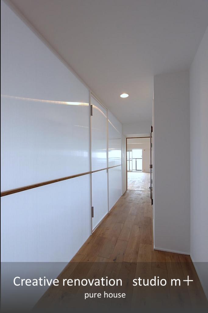 廊下、光を取り入れるリノベーション事例