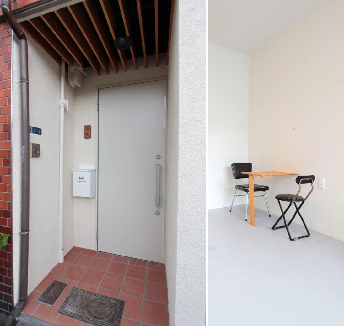 戸建リノベーションの玄関