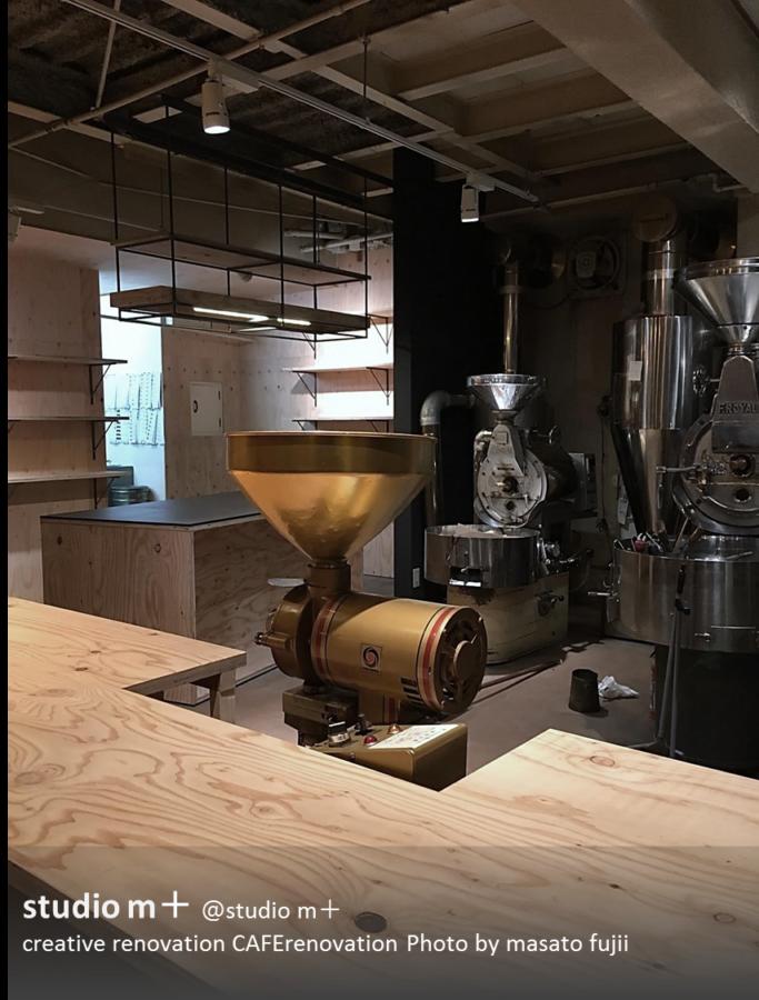 大阪のカフェリノベーション 「合板で魅せる」天王寺カフェ