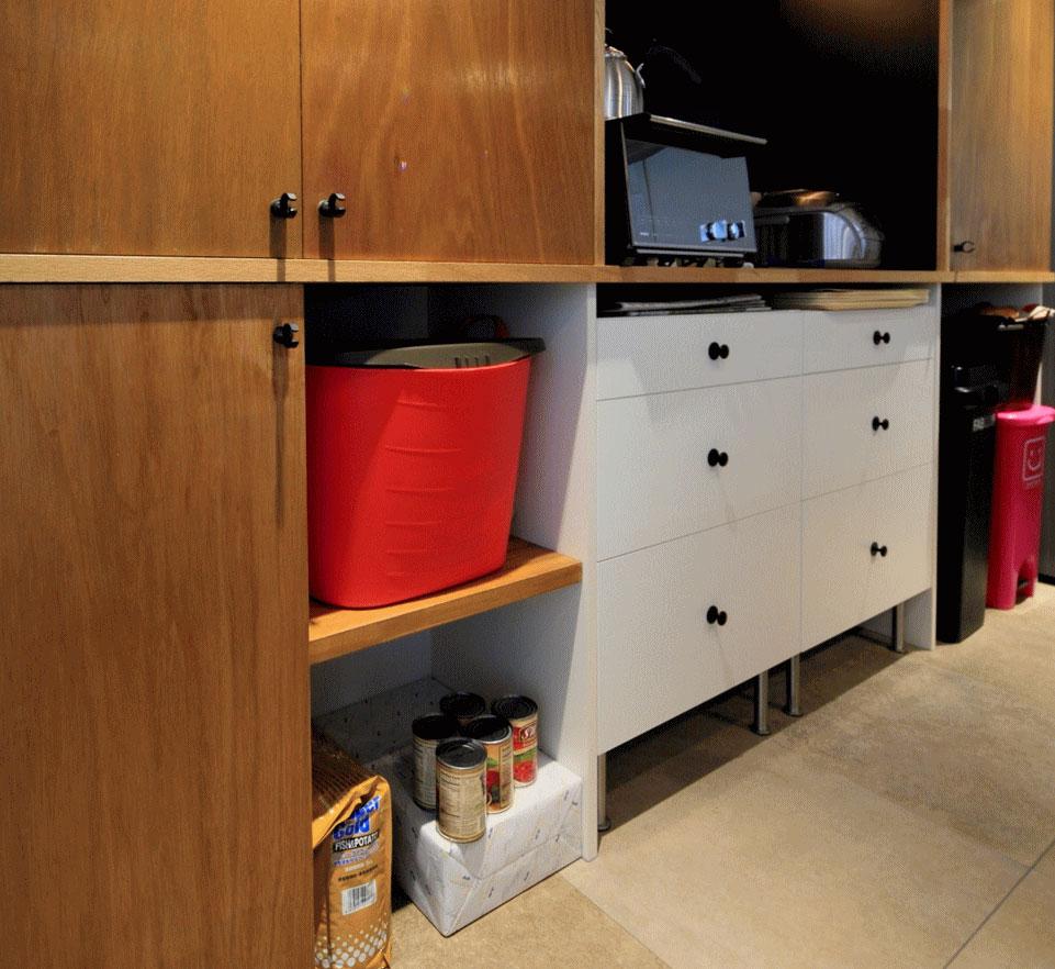 キッチンの造作収納