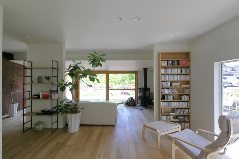 戸建ならではの開放的な空間