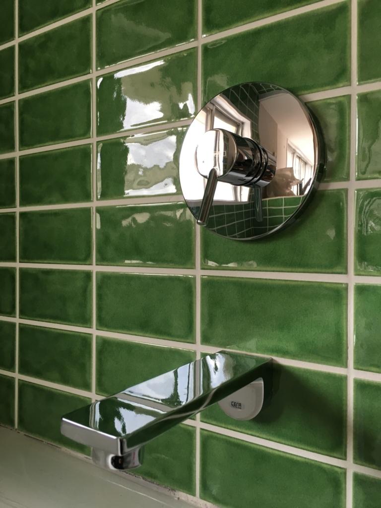 お風呂の水栓金具。