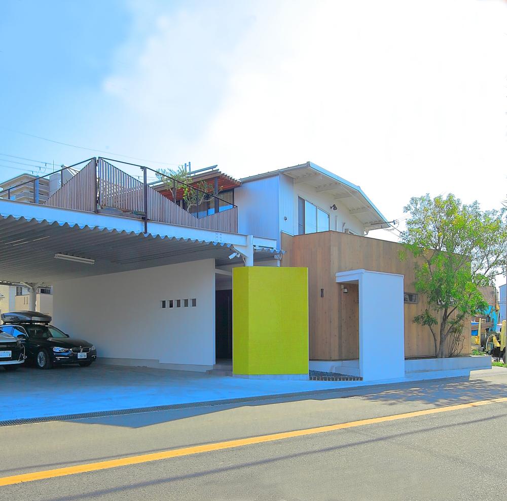 堺 戸建てリノベーション「タイルある風景」素材の家